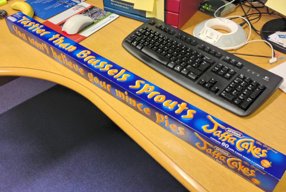 Yard Of Jaffa Cakes