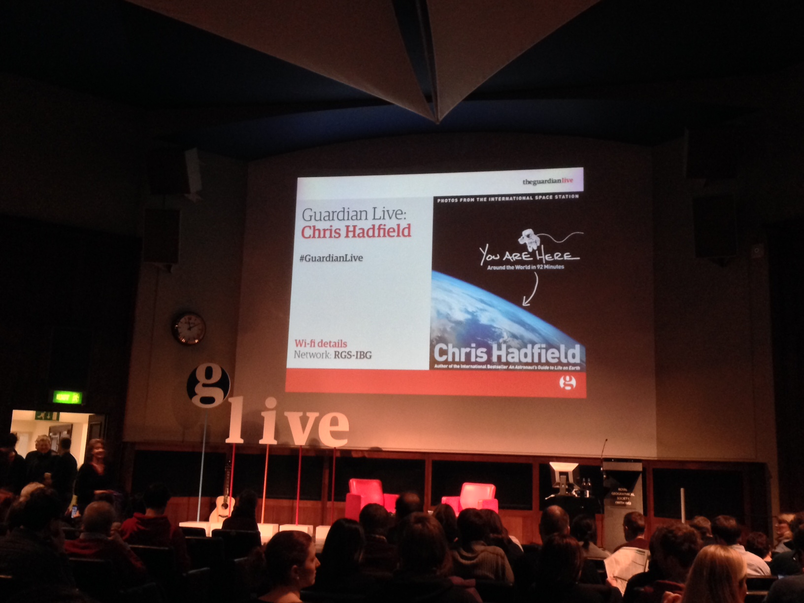 Chris Hadfield Royal Geographical Society