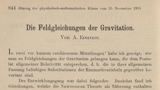 Einstein General Relativity
