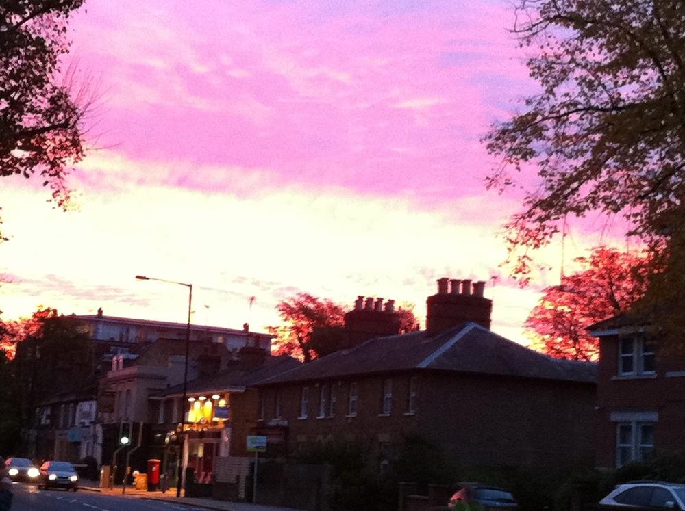 London Pink Sky