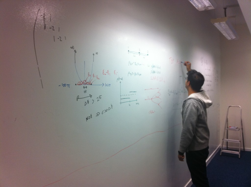 Institute of Mathematical Sciences Whiteboard