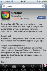 No chrome 1
