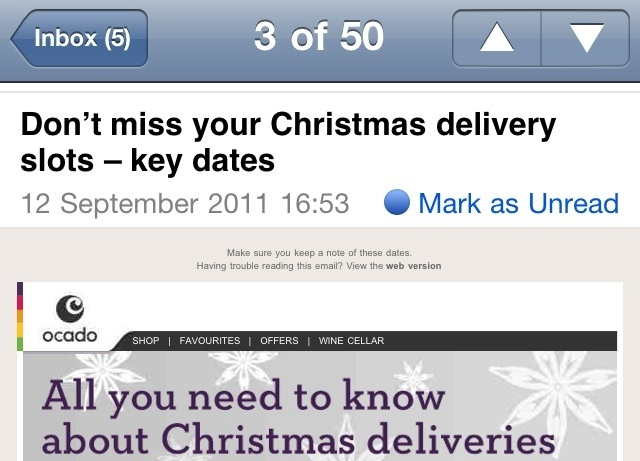 Xmas Deliveries in September