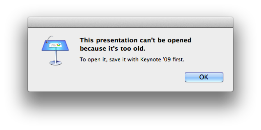 Keynote Compatibility Issue