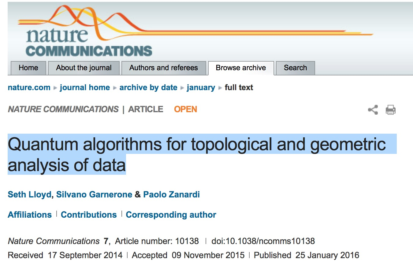 Quantum algorithms for topological and geometric analysis of